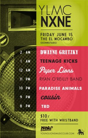 Young Lions Music Club NXNE Showcase