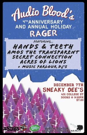 Audio Blood's 4th Anniversary and Holiday Rager