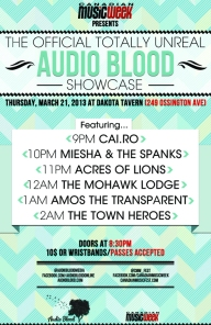 Audio Blood Showcase @ CMW 2013